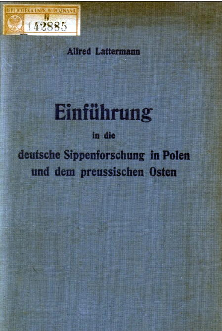 Sippenforschung_Titelblatt