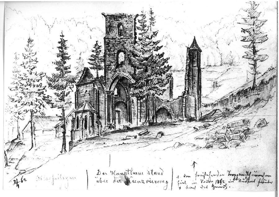 Skizzenbuch Gebhardt Kloster Allerheiligen (3)