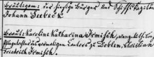 Seebeck_Heiratseintrag_1848